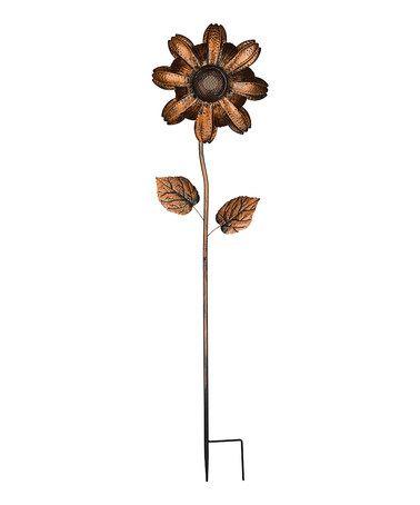 Another great find on #zulily! Copper Bluetooth Flower Garden Stake #zulilyfinds