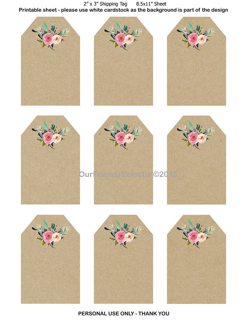 graphic about Printable Wedding Favor Tags named Printable wedding ceremony desire tags, printable tags, electronic floral