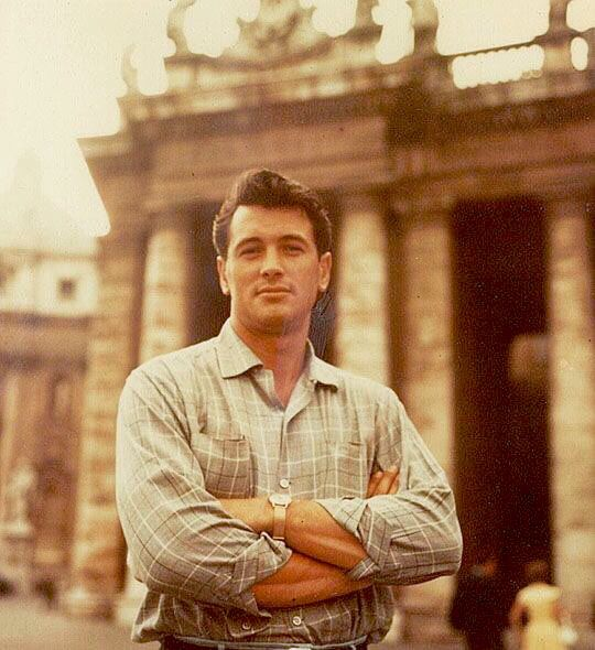 Rock Hudson in Rome. (Photograph by Michael Butler)