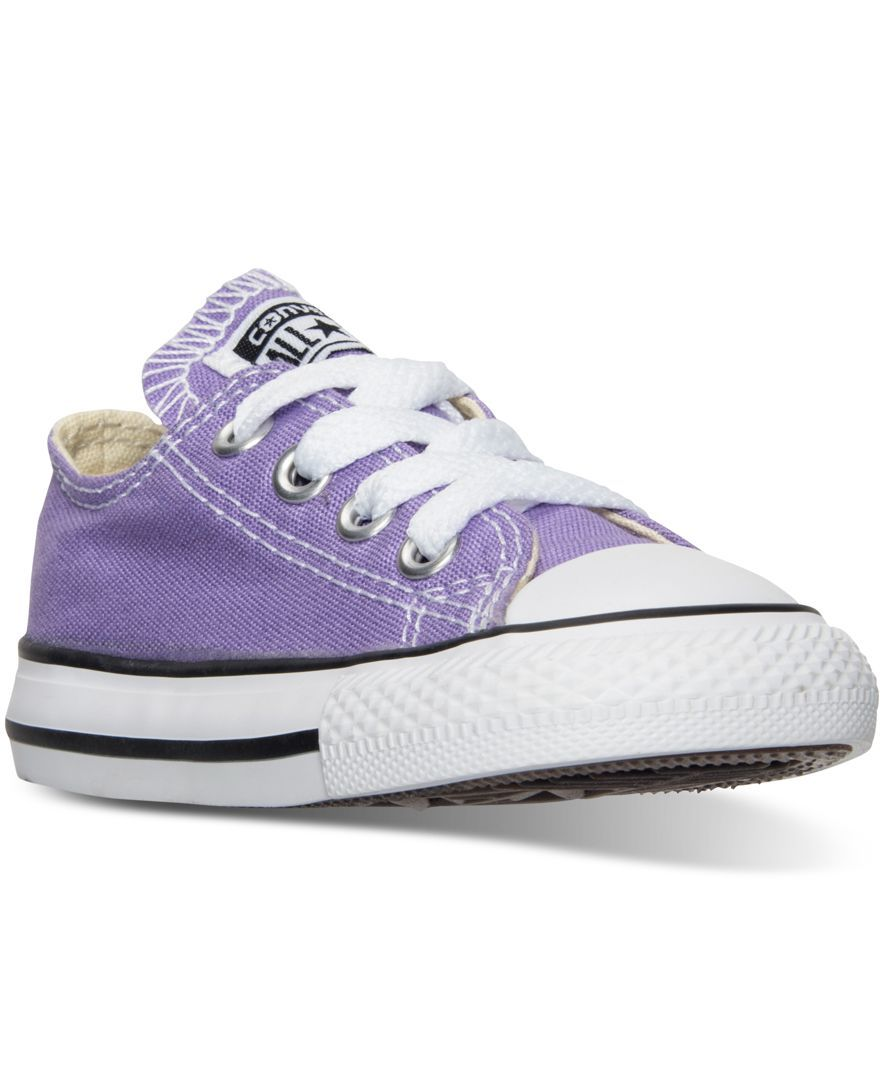 0f630cf9c73 Converse Toddler Girls  Chuck Taylor All Star Ox Casual Sneakers from  Finish Line