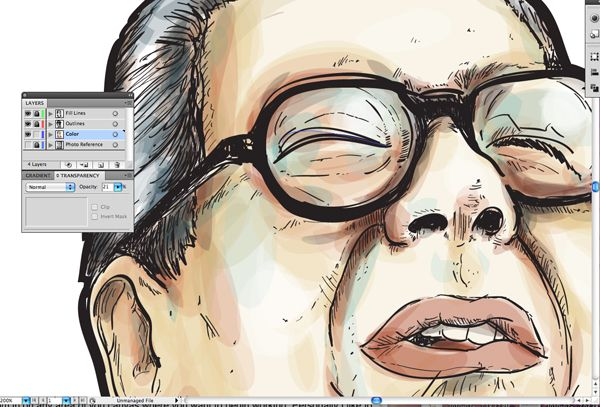 Make Watercolor And Marker Style Portraits With Illustrator