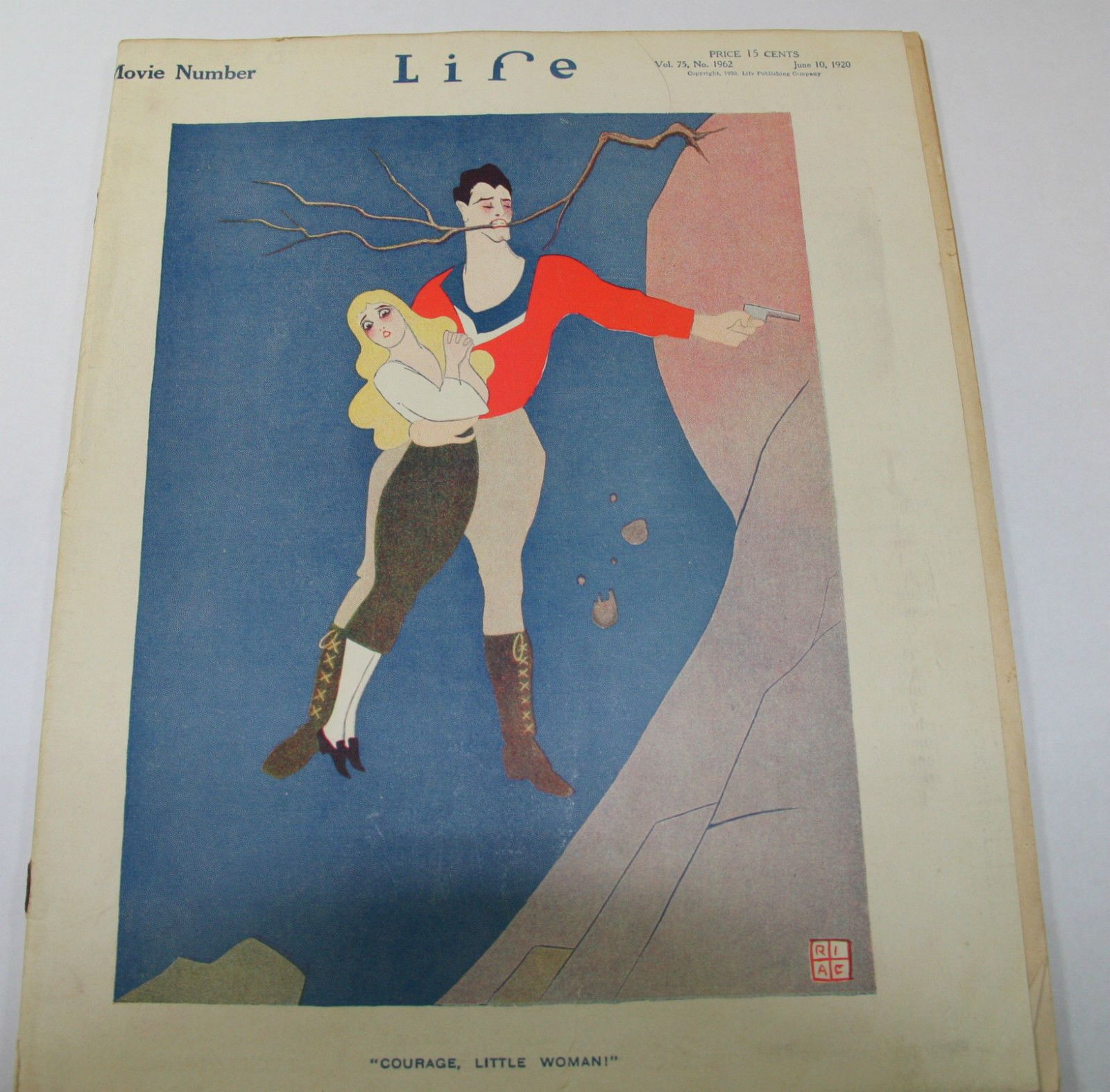 Life Magazine from 1920s Featuring Comical Couple