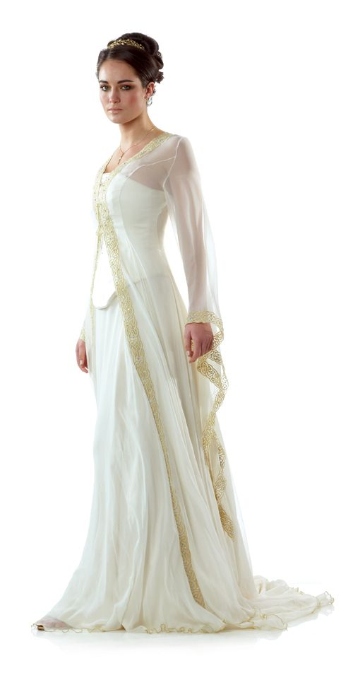 Celtic Wedding Dress from Lindsay Fleming   Tyra with Kilda Coat  interesting thought for multiple looksCeltic Wedding Dress from Lindsay Fleming   Tyra with Kilda Coat  . Plus Size Celtic Wedding Dresses. Home Design Ideas