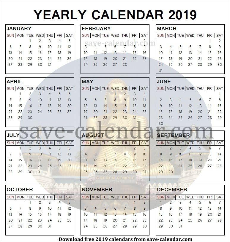 Printable Calendar Sri Lanka 2019 Sri Lanka Calendar 2019