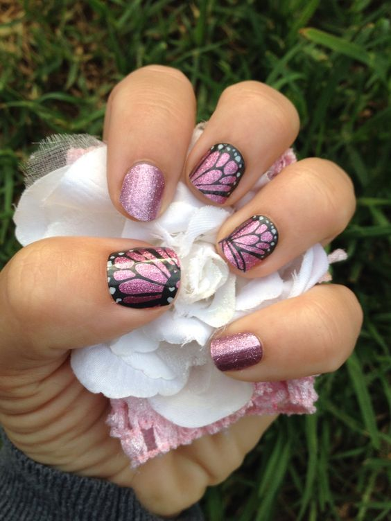 Butterfly Kisses with Pixie #Jamberry #Nails #nailwraps #Beautiful ...