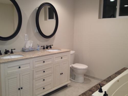 Double Bathroom Vanities Granite Tops home decorators collection hamilton 61 in. w x 22 in. d double