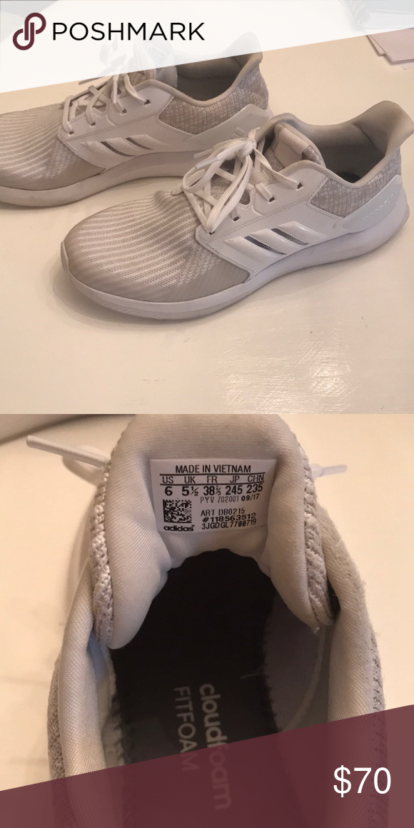 premium selection 6789f 03981 Adidas RapidaRun running shoes Worn a few times. Kids size 6 but feel like  women s size 8-8.5. adidas Shoes Athletic Shoes