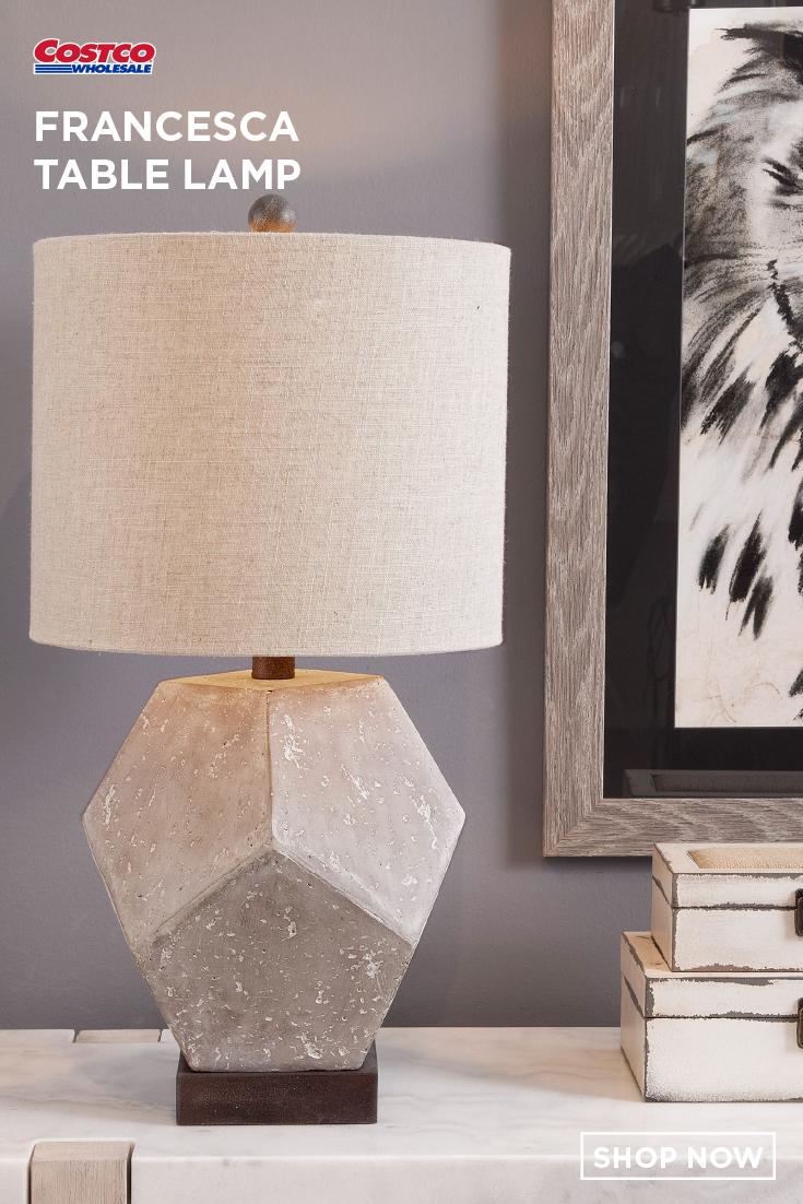 Francesca Table Lamp Table Lamp Lamp Grey Table Lamps