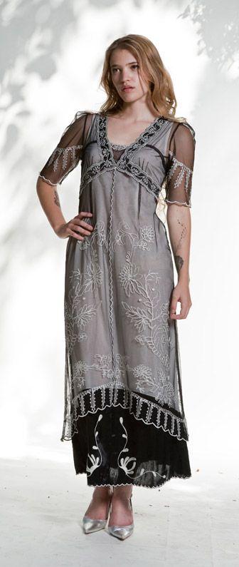 Empire style dress by Nataya in tender black