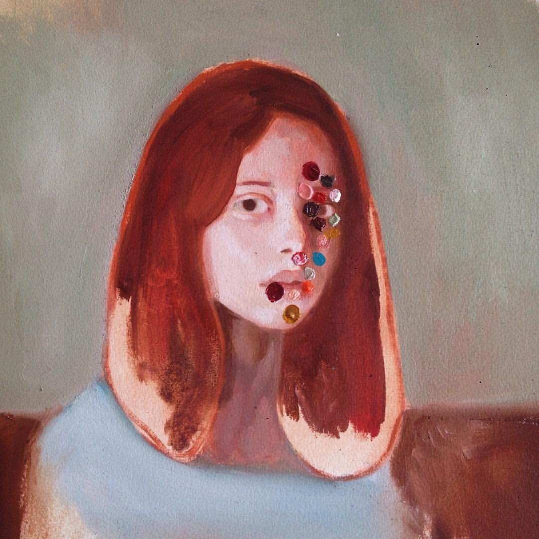 Confetti, 2015 Oil on paper