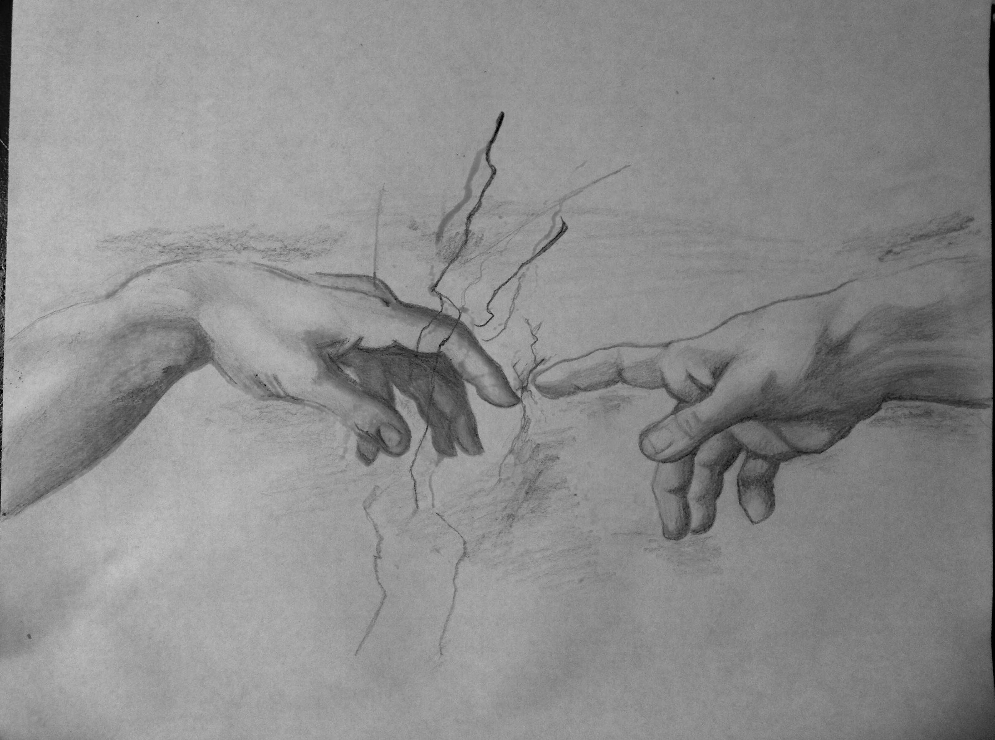 Image Result For The Creation Of Adam Sketch How To Draw