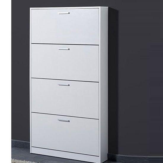 Maximas 4 Tier Shoe Storage Cabinet In White & Maximas 4 Tier Shoe Storage Cabinet In White | g? n?i th?t ...