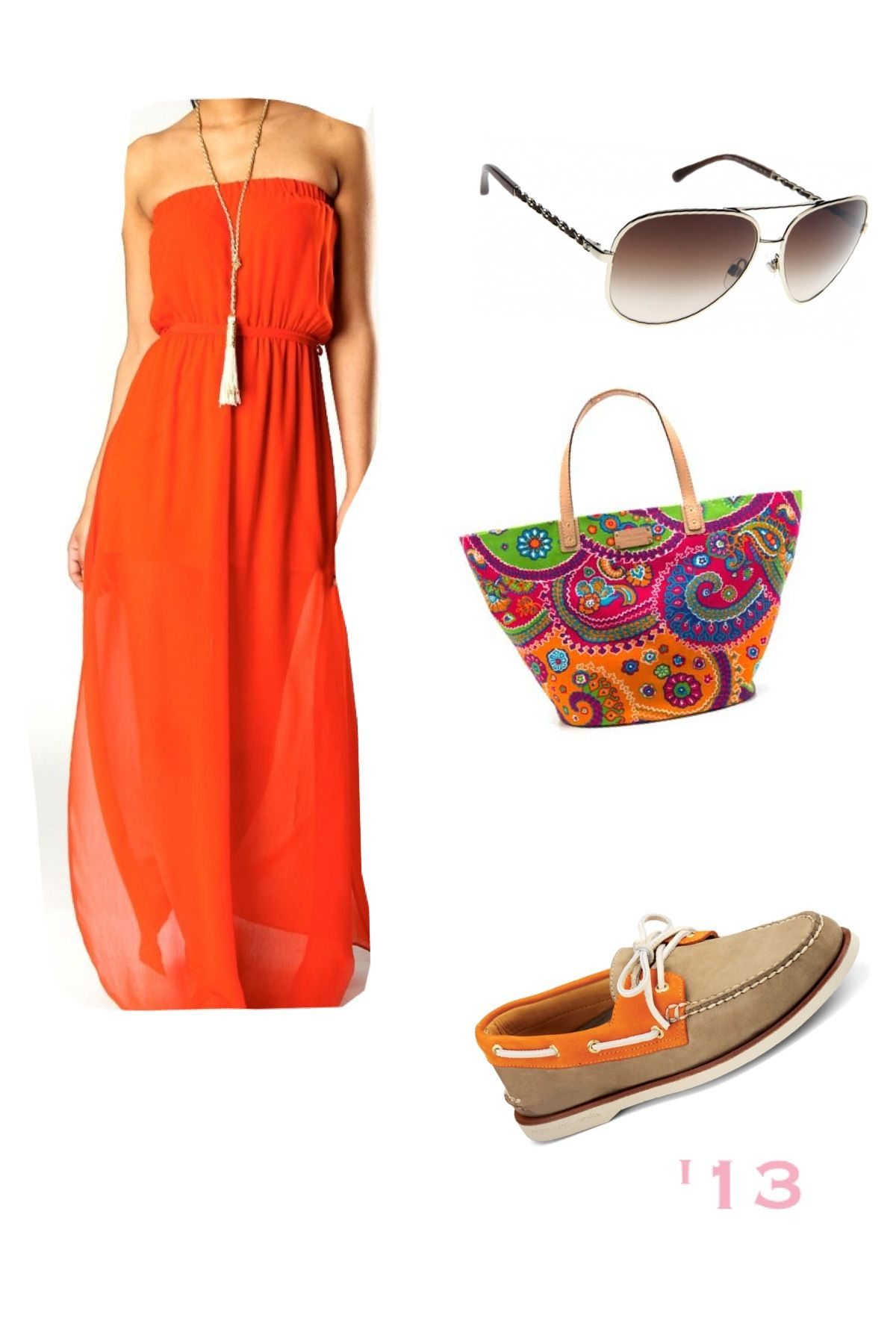 dfa8e9d65e Cute orange maxi dress
