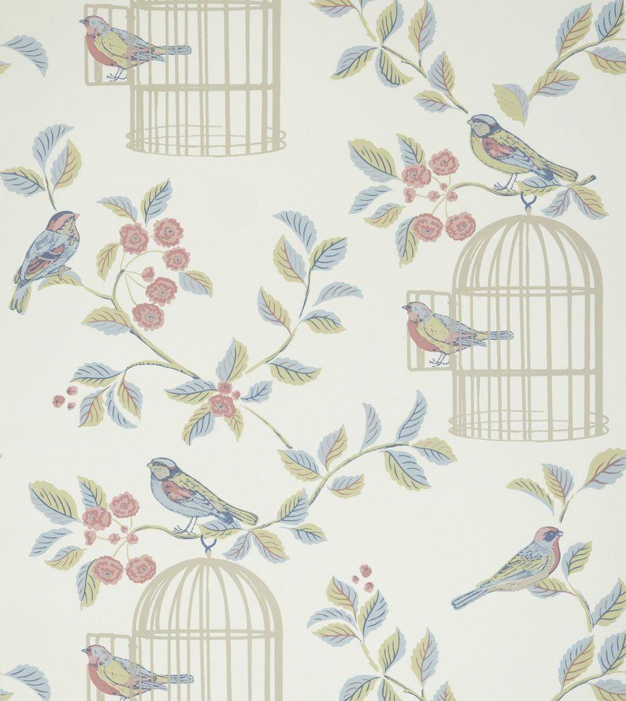 Shabby Chic Bedroom Wallpaper Iliv Shabby Chic Songbird Wallpaper Eau De Nil Bedroom Ideas