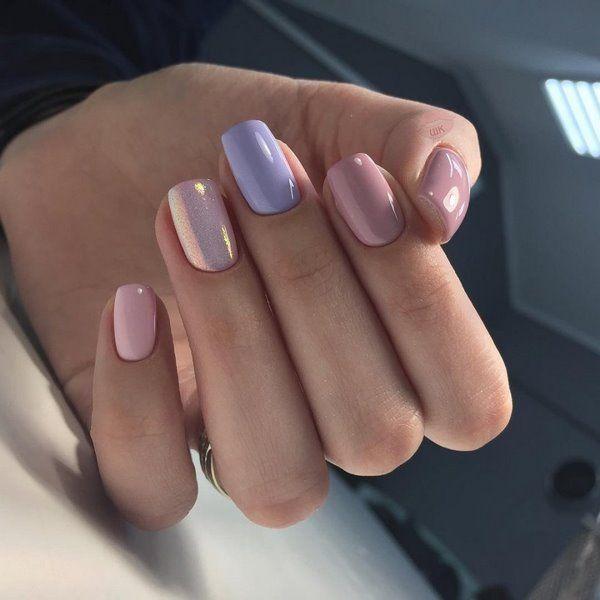 дизайн ногтей на короткие ногти розовый 7