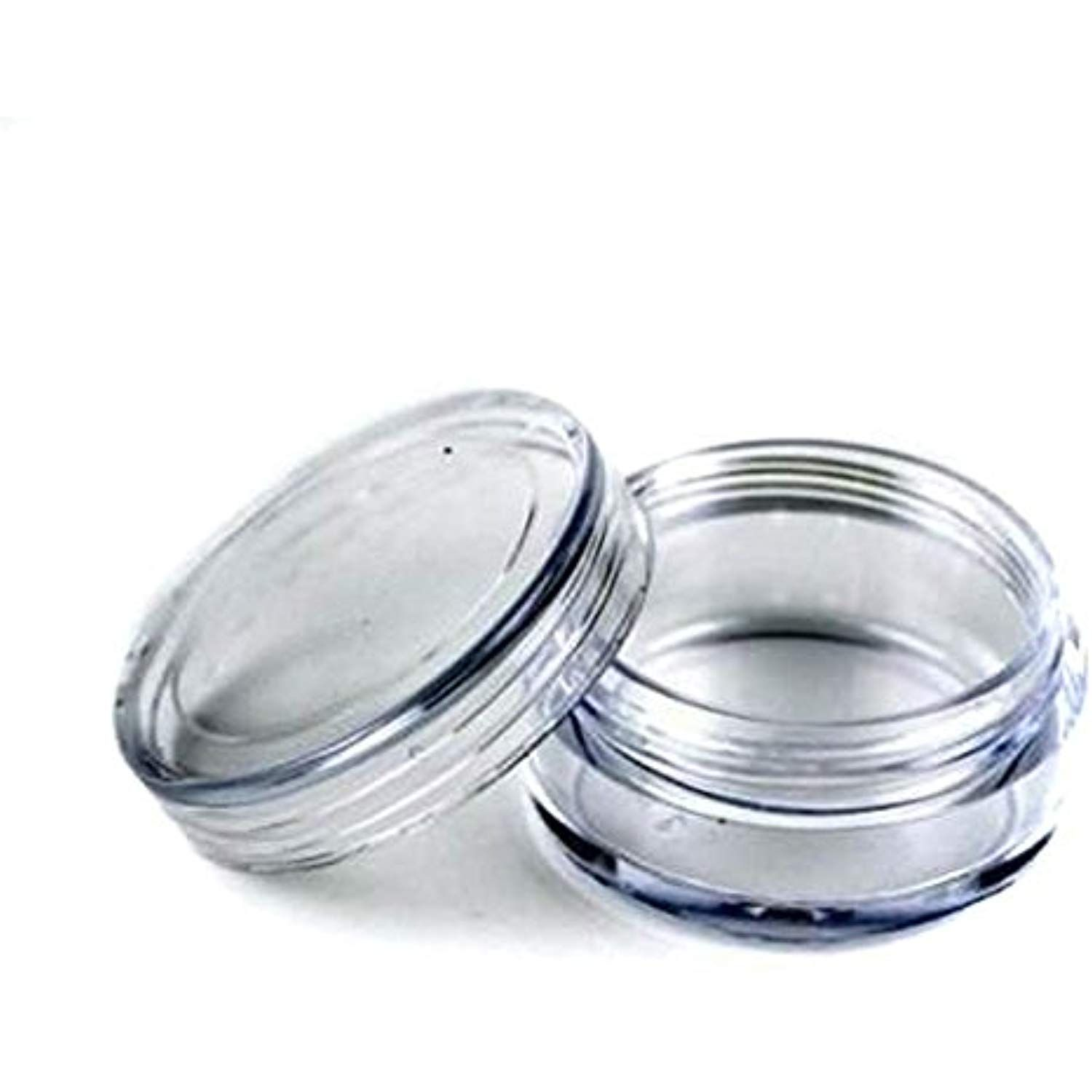 50pcs New Empty Clear Plastic Cosmetic Containers 3 Gram Size Pot Jars Eye Shadow Container Lot Size Di Cosmetic Containers Vanilla Lip Balm Homemade Lip Balm