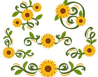 free clipart images clipartool search your clip art 2 sunflower rh pinterest co uk sunflower clip art black and white sunflower clip art free printable