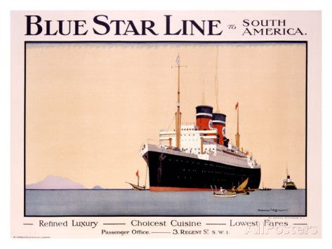 Blue Star Line Giclee Print at AllPosters.com