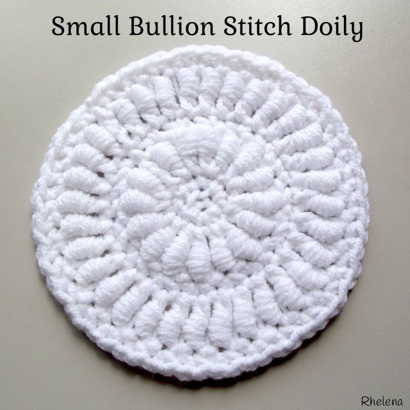 Small Bullion Stitch Doily ~ FREE Crochet Pattern | Crochet Stitches ...