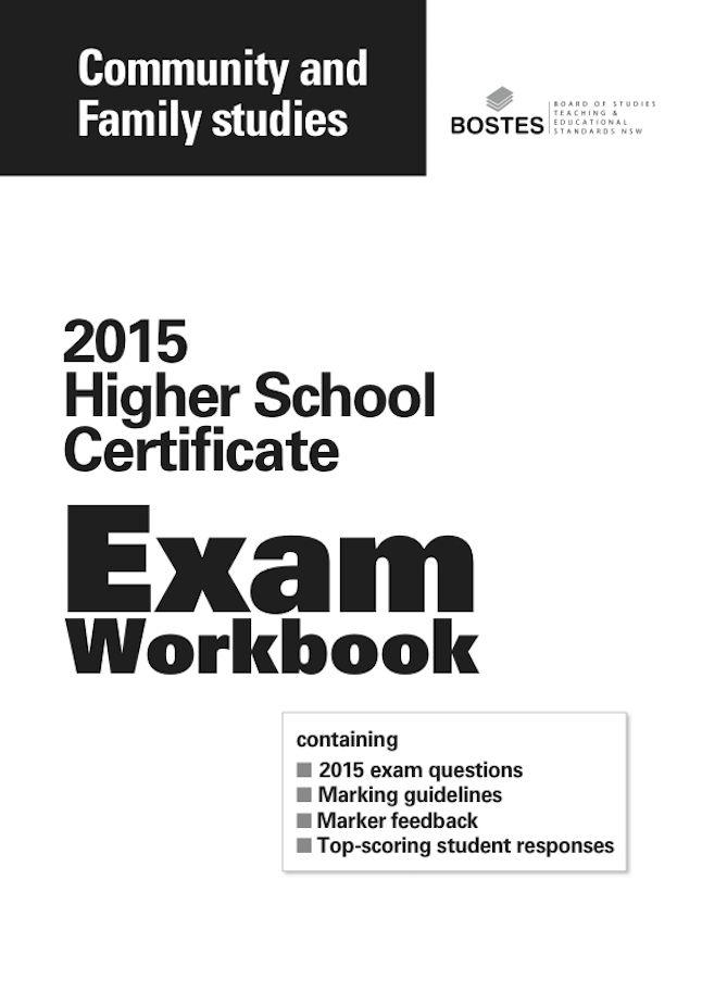 Image for 2015 HSC Community & Family Studies Exam
