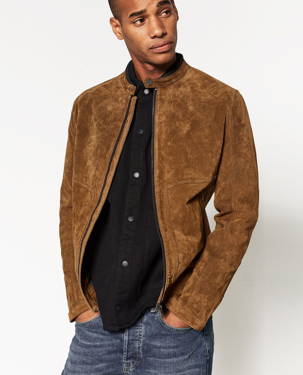 Split Suede Jacket View All Jackets Man Zara United States Mens Jackets Menswear Zara Man