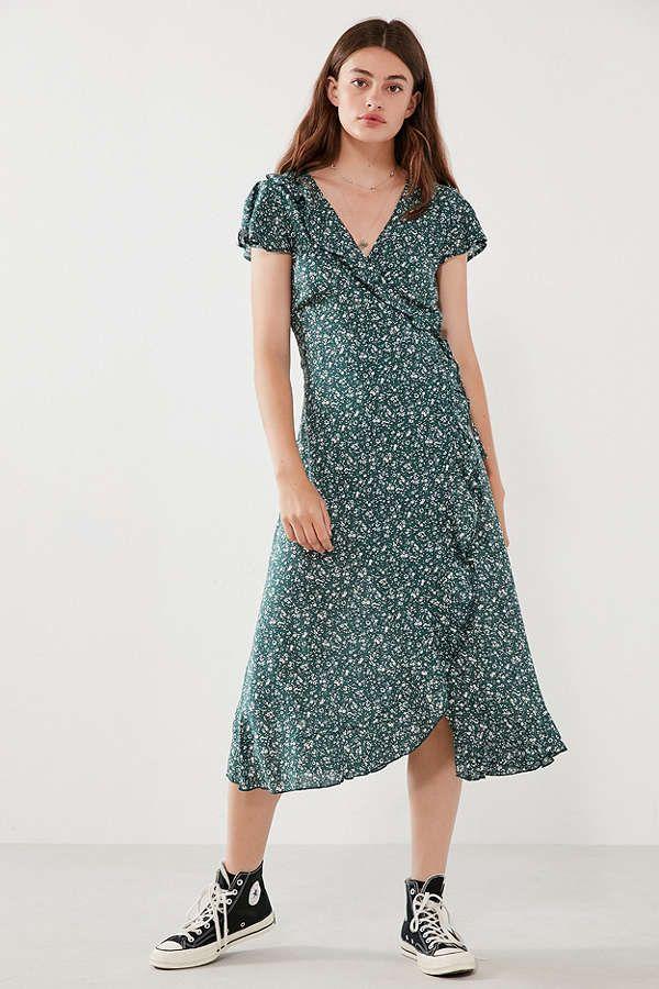 0f6816603 Kimchi Blue Ruffle Midi Wrap Dress in 2019 | Summer | Dresses, Wrap ...
