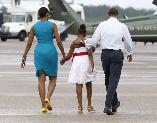 Michelle Obama Encourages Her Daughters To Accept Their Bodies