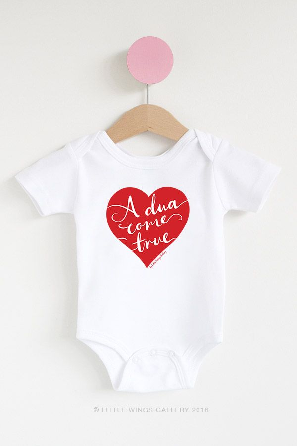 muslim baby dua come true heart short romper onesie pinterest