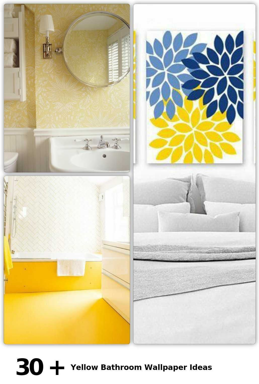 Yellow Bathroom Monochrome Tiles Luxury Smallbathroom Towelrail Design Plans Ideas Yellow Bathrooms Yellow Bathroom Tiles Bathroom Design