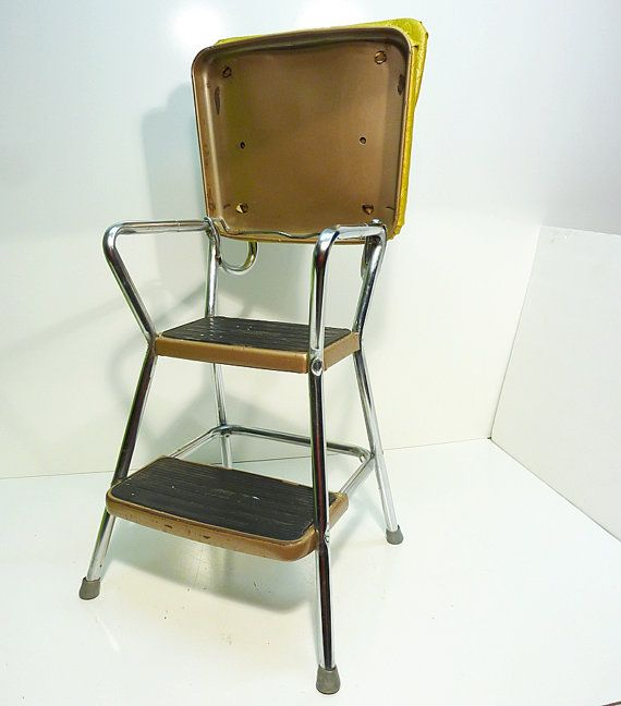 New Retro Kitchen Stool with Steps