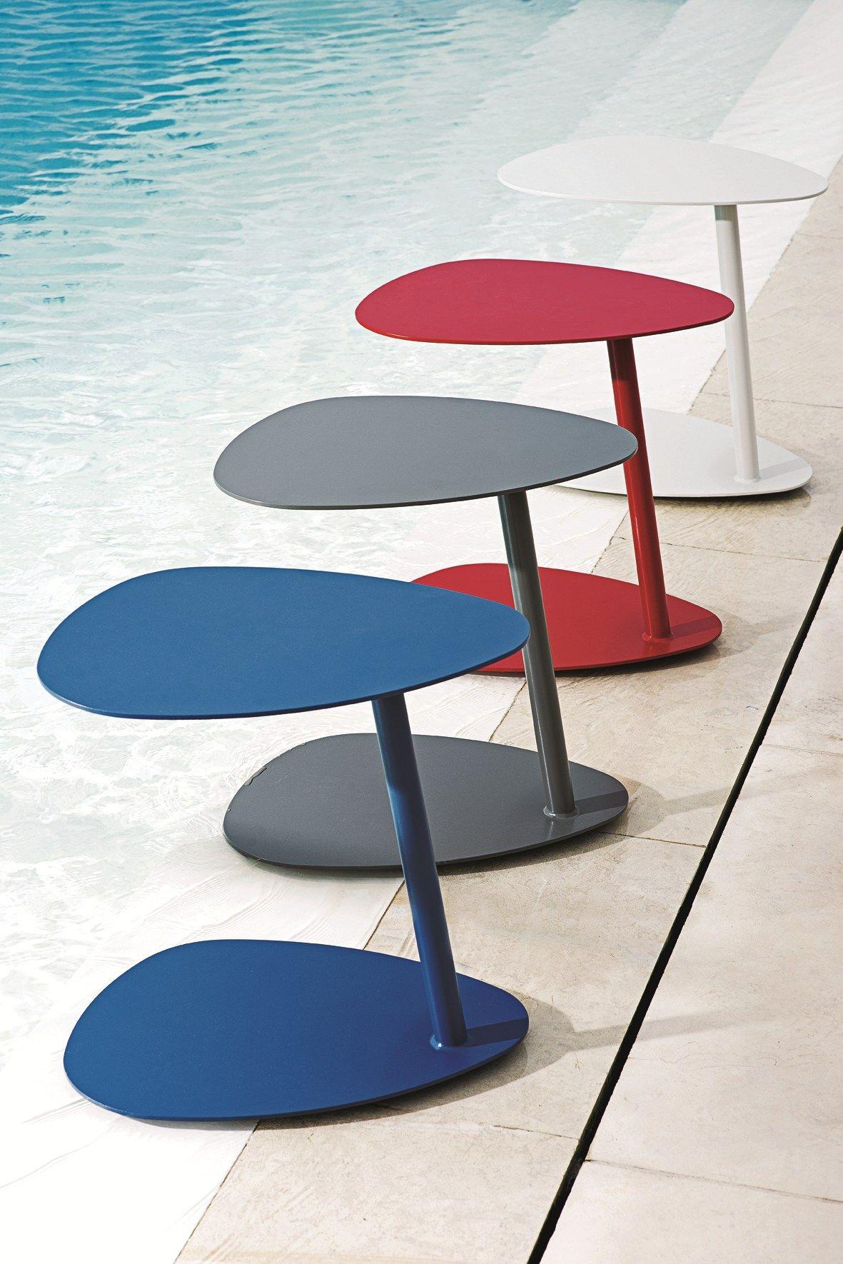 Table Basse De Jardin En Aluminium Smart By Ethimo Table D Appoint Table De Salon Table Basse Jardin