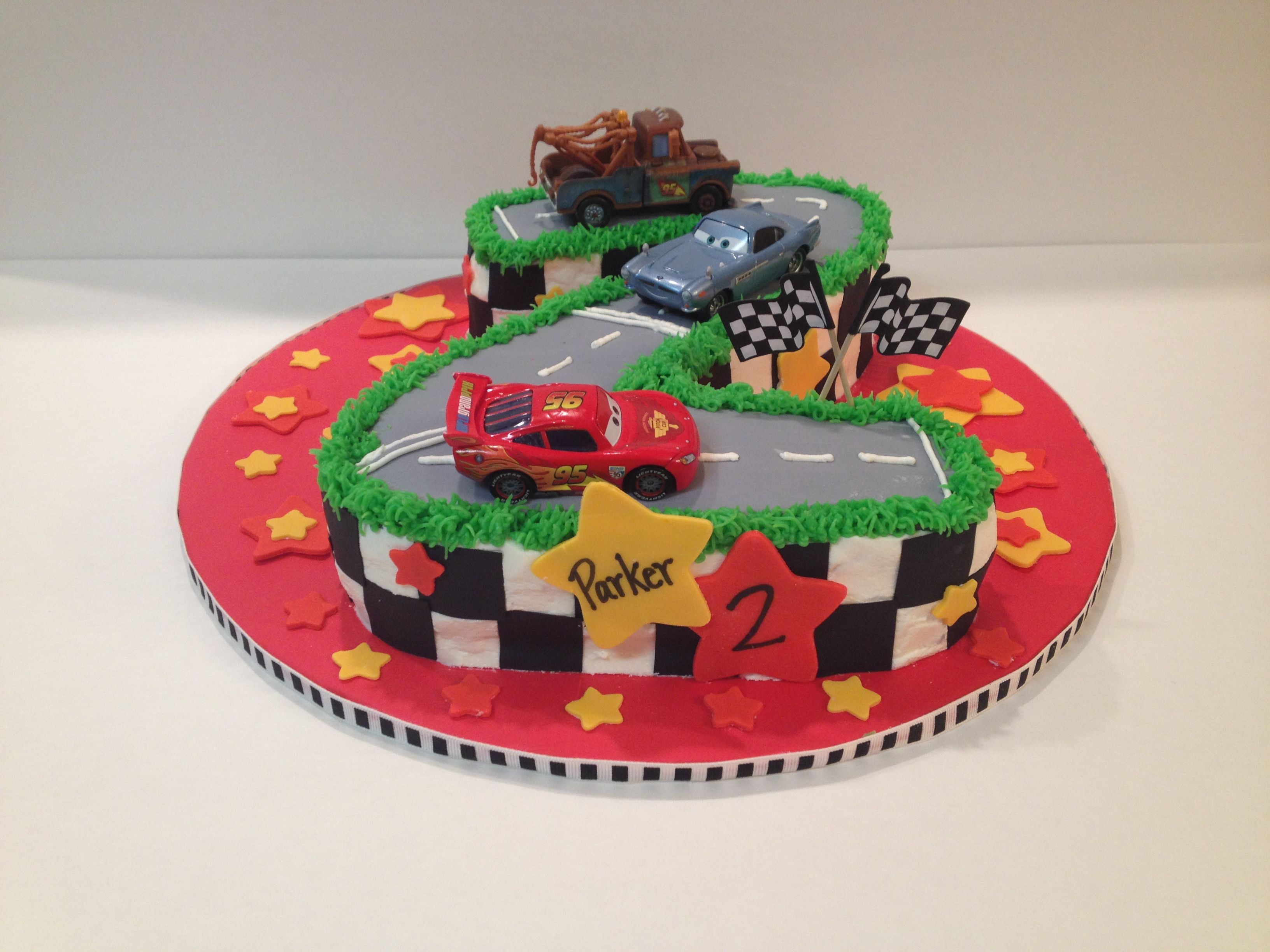 Cars Cake For 2 Year Old Cars Party Pinterest Birthday Cake