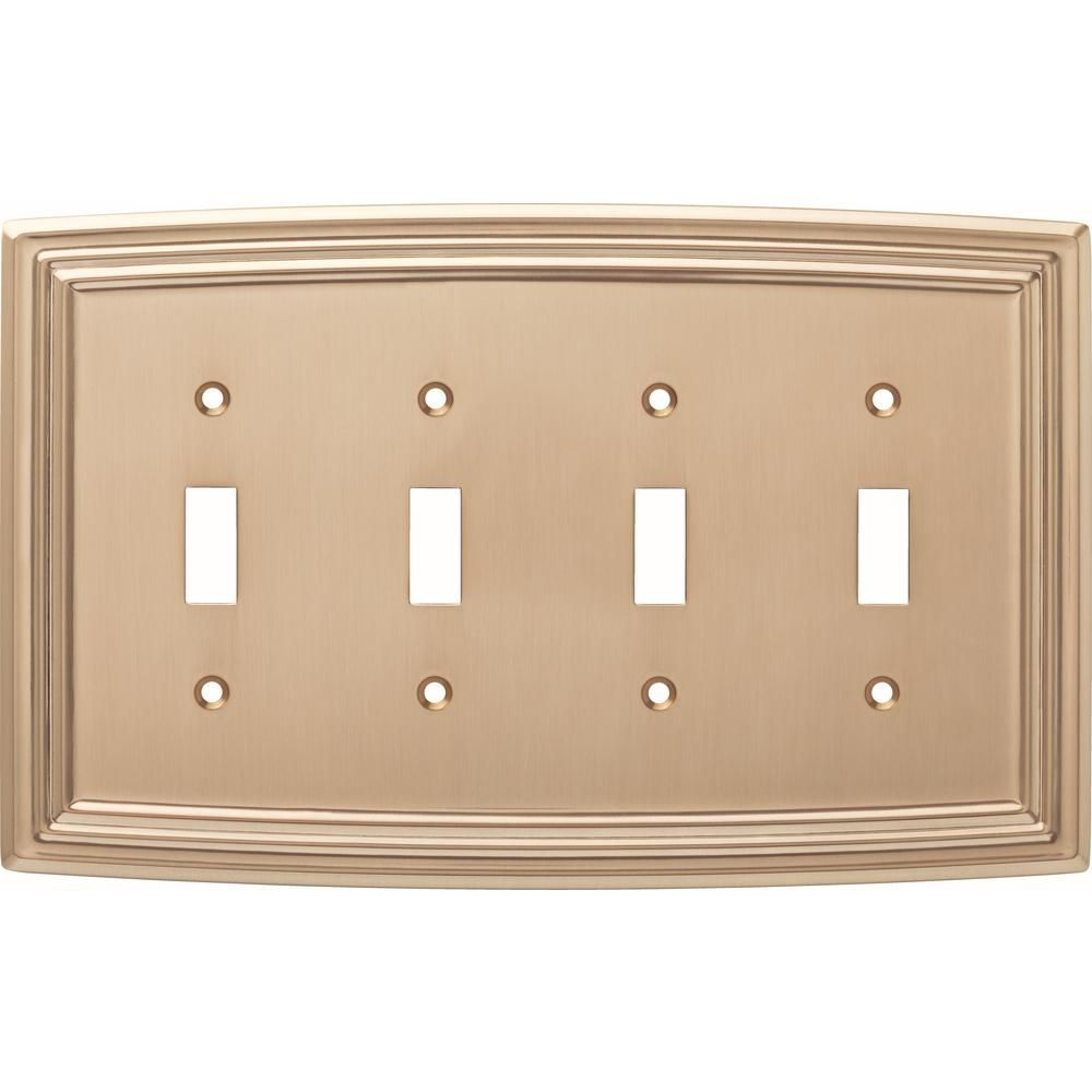 Liberty Bronze 4 Gang 4 Toggle Wall Plate 1 Pack W36406 Cz C The Home Depot Plates On Wall Light Switch Covers Switch Plate Covers