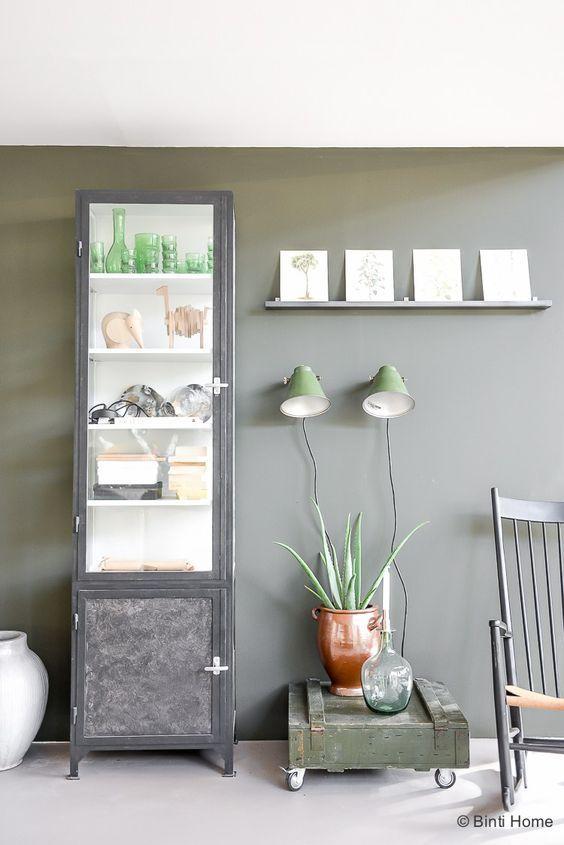 Vtwonen huis woonkamer inspiratie groene muur ©BintiHome | kleuren ...