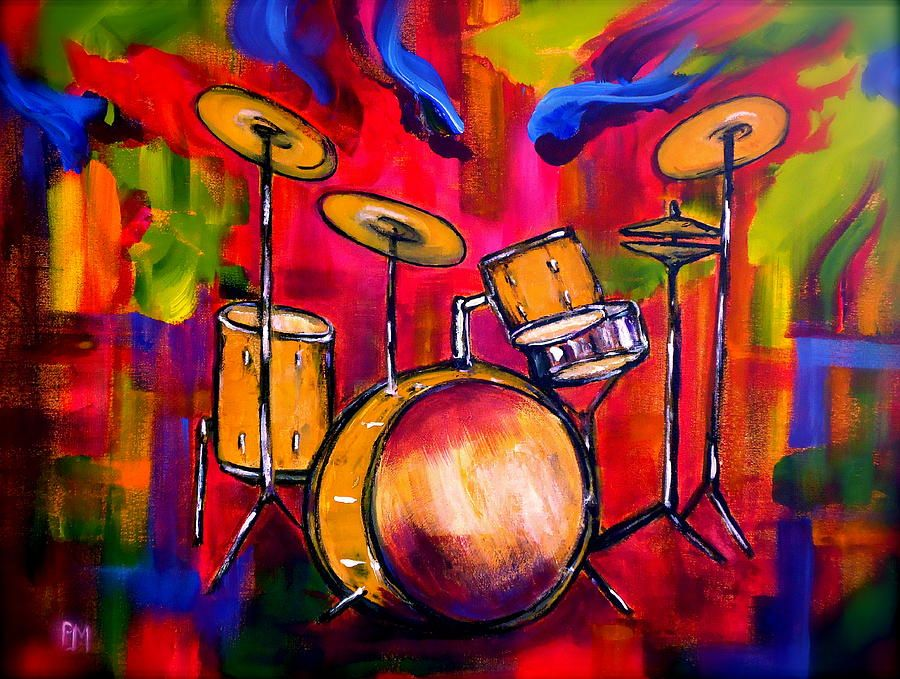 Abstract Drums Ii By Pete Maier Drums Art Drummer Art Painting