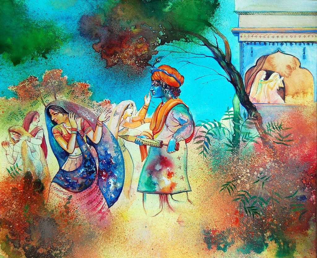 Love The Watercolor Feel In This Image Very Organic Holi