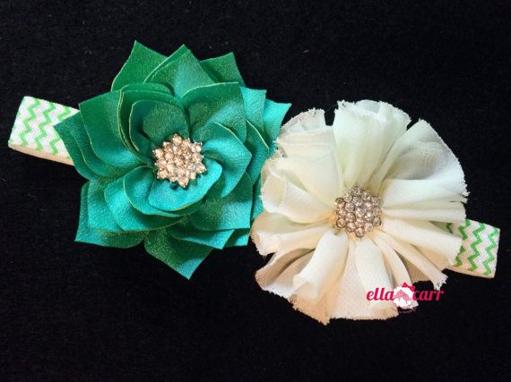 Irish Flower Headband Infant Flower by EllaCarrMadeInBklyn on Etsy, $8.49