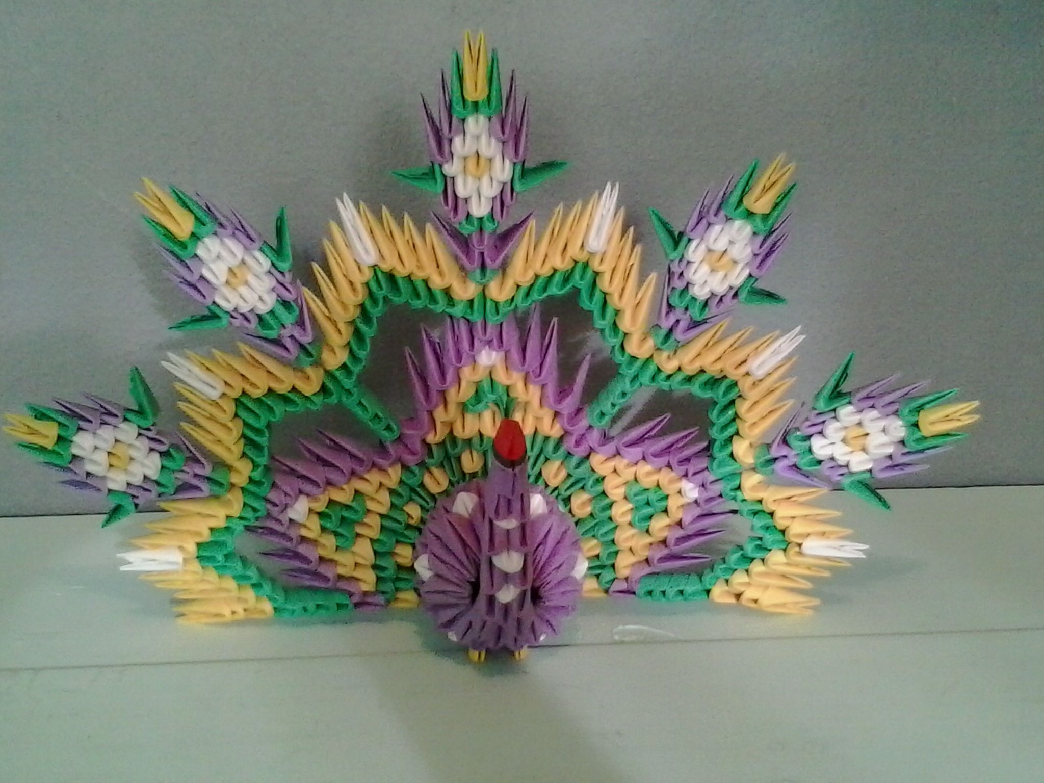 3d origami peacock. I made this for a work colleague some ... - photo#46