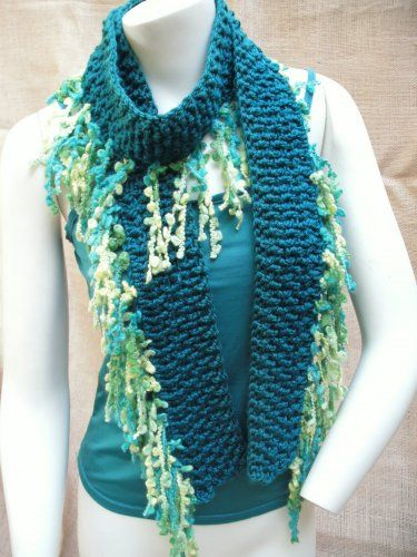 Very Simple Make Your Basic Loom Knitted Scarf And Add The Fringe