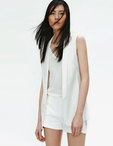 Zara combined waistcoat with transparent sections $79.90