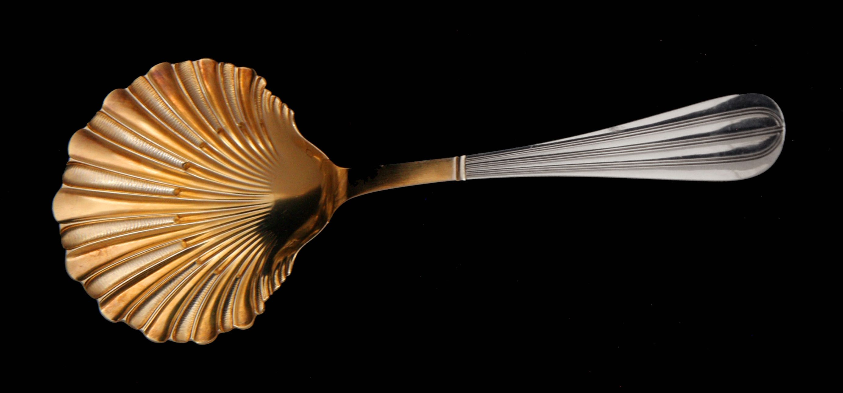 The Large Ice Cream Custard Serving Scoop With Vermeil