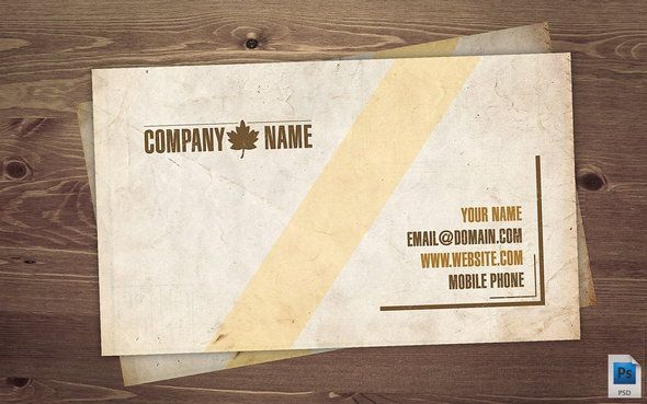 Vintage business card free psd business card templates feel free to use it edit and print for yourse old business card psd reheart Gallery