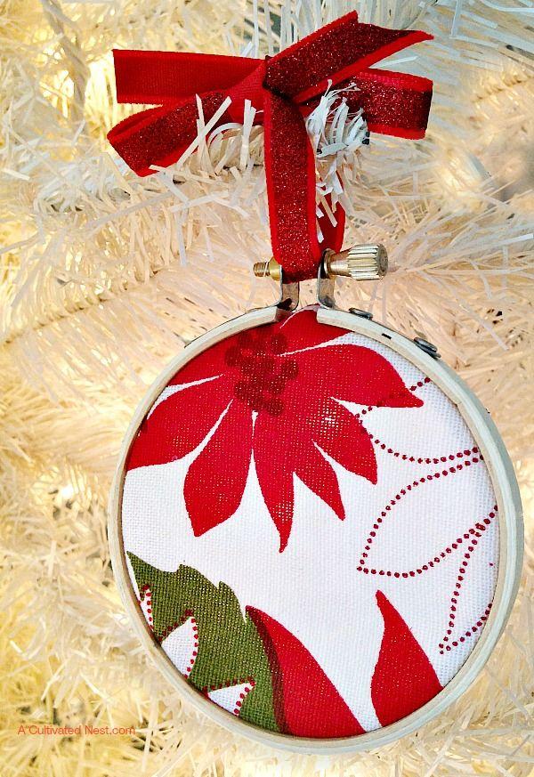 Diy Embroidery Hoop Christmas Ornament Diy Christmas Ornaments Easy Easy Christmas Diy Christmas Ornaments