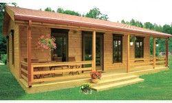 Plano de caba as de madera 3d buscar con google for Cabanas madera baratas