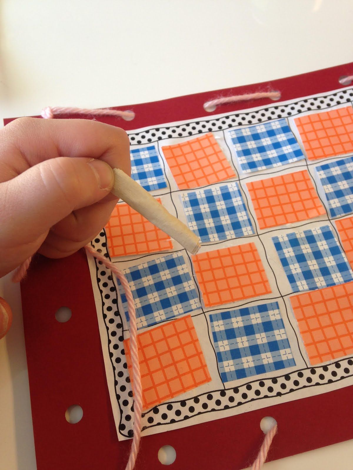 Q Day For Preschoolers Love This Quilting Activity