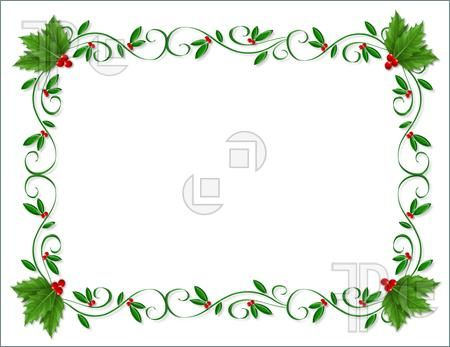 Christmas Card Borders Png christmas card borders – item 3 vector ...