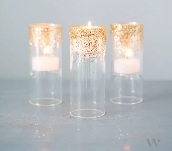 7 DIY Wedding Decorations Crafts Romantic and Tea lights