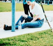 голубые волосы, Хейли Уильямс, Paramore | Хейли уильямс ...