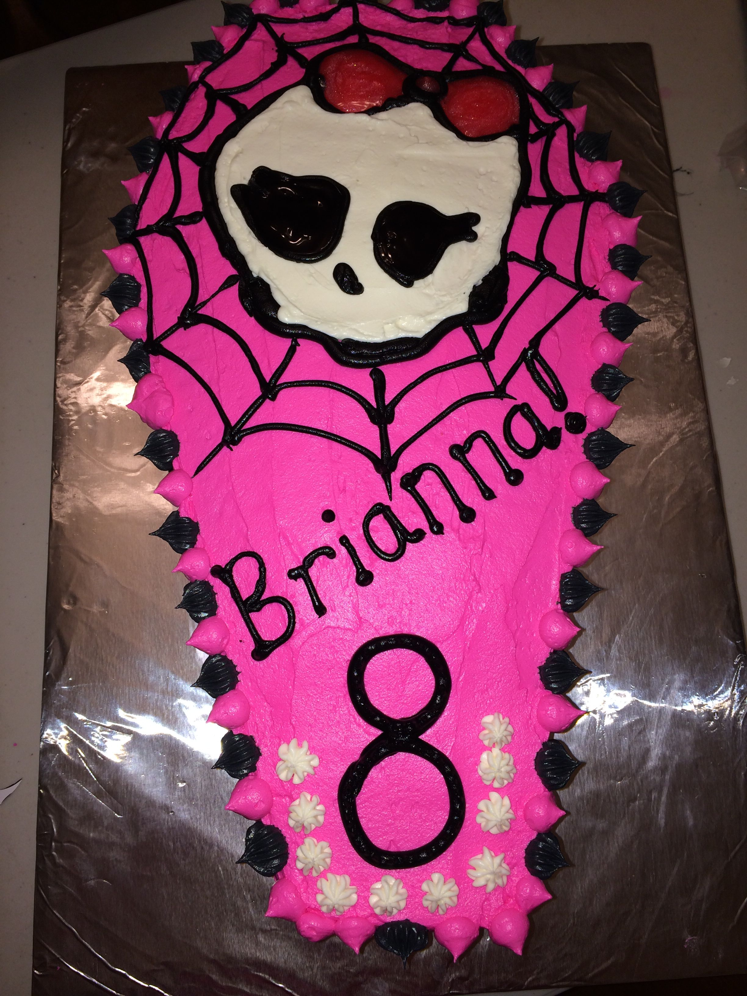 Monster High Birthday Cake For 8 Year Old Girl Klassy Kupcakes By