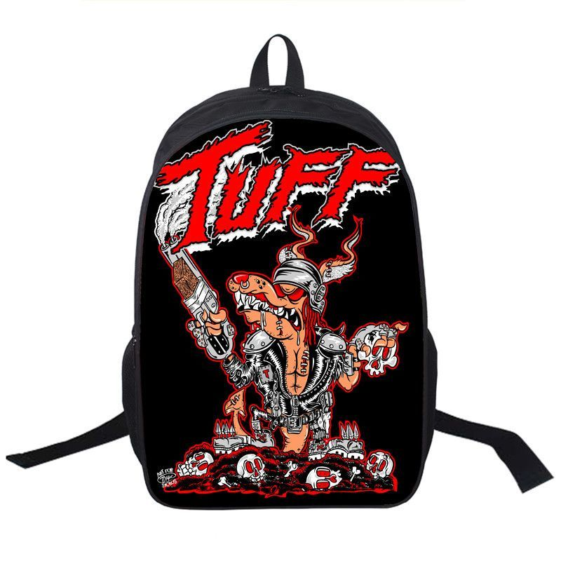 Led Zeppelin Beatles AC/DC KISS Grateful Dead Rolling Stones Blur U2 Backpack School book bag laptop